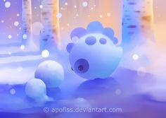 snow dino by Apofiss on deviantART
