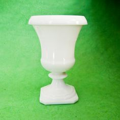 Fabulous Milk Glass Vintage Vase Bowl Planter Urn by OllyOxes @Olly Olly Oxen Free