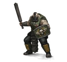 Astra Millitaris Ogryn can be used as brutal Mi-Go clone warriors bred for agression.