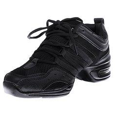 Zapatillas De Danza Baile De Jazz Hip Hop Zapatos Para Mujeres Negro fba66d94624
