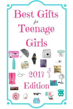 It's always hard to find the perfect gift for teenage girls! I try every year to buy my teenager the newest and best on trend gifts that I can find. This year I recruited my teen & other girlie girls to help me find the hottest gifts for teenage girls in 2017. Enjoy my gift guide featuring 50 of the best gifts for teen and tween girls!