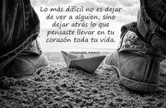 Lo más difícil no es dejar de ver a alguien...