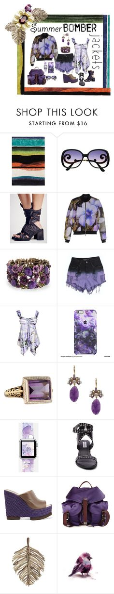 """""""BOMB SUMMER BOMBER JACKETS!"""" by hrhjustcuz ❤ liked on Polyvore featuring Christian Lacroix, Free People, Atos Lombardini, Bling Jewelry, Evil Twin, Lonna & Lilly, Casetify, Steve Madden, Paloma Barceló and N°21"""