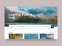 Travel Concept Transition designed by Leonid Arestov. Connect with them on Dribbble; Website Design Layout, Website Design Inspiration, Layout Design, Ui Animation, Modern Website, Ui Web, Design System, Landing Page Design, Travel Planner