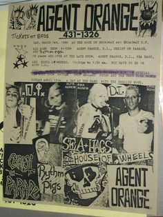 Agent Orange D.I. Christ on Parade Sea Hags House of Wheels 1986 Gig Flyer SF