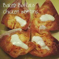 Baked Buffalo Chicken Wontons
