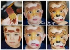 Face Painting by Daizy Design. Hire a professional face and body painter, Christy Lewis, for your next birthday party or event.