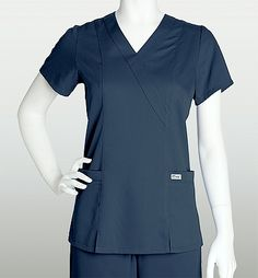 Grey's Anatomy Medical Scrub Mock Wrap Junior Top 41101  Medicalscrubscollection.com