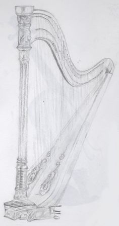 Beautiful sketch of the harp
