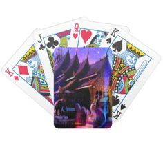 Throughout Time and Space Bicycle Playing Cards
