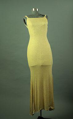 Jessica Mclintock 1980 Glitter Vintage Spandex Long Cocktail Dress