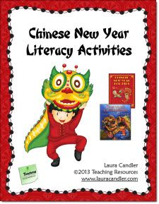 Free Chinese New Year Literacy Activities packet and other seasonal resources in Laura Candler's online file cabinet