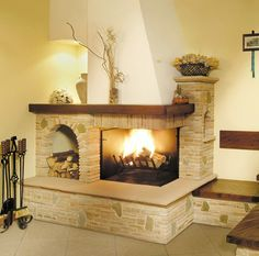 Fireplace and mantlepiece White Fireplace, Modern Fireplace, Living Room With Fireplace, Fireplace Design, Small Space Interior Design, Interior Decorating Styles, Home Theater Rooms, Front Rooms, Fireplace Remodel