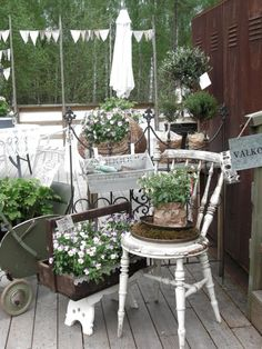lovely display of goods at a garden shop