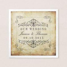The Ornate Flourish Vintage Wedding Collection Napkin
