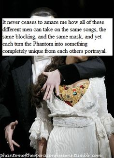Exactly that is why I think there is no wrong way to play Erik. He has many layers. phantom of opera confession