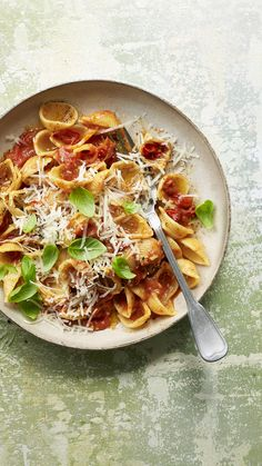 Five ingredients – pasta, balsamic vinegar, cherry tomatoes, butter and cheese – are all you need to make this delicious supper on a student budget. Easy Pasta Recipes, Rice Recipes, Veggie Recipes, Vegetarian Recipes, Cooking Recipes, Cherry Tomato Pasta, Roasted Cherry Tomatoes, Food Magazines, Salty Foods