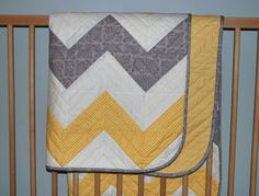 Baby Chevron Perfect and easy baby or lap quilt Made with 8 inch squares that transfer to 5 inch HST