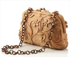 Amazing Handbag Wood Sculpture