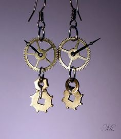 Image result for steampunk earrings