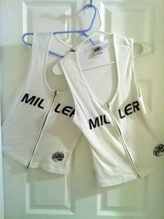 486ae18cd067e 1 MILLER LITE Ladies L Tight Ribbed White Sleeveless 100% Cotton Zip-Up Top   AcmeApparel  ZipUp  10  Ebay