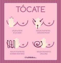 Detectar el #CáncerdePecho está en tus manos. Auto-examínate periódicamente. tuMédico.es