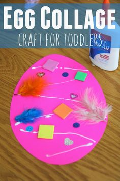 Easter Egg Collage Craft for Toddlers - Crafts for Kids - Toddler Approved!: Easter Egg Collage Craft for Toddlers - Easter Crafts For Toddlers, Easter Projects, Easter Art, Easter Crafts For Kids, Bunny Crafts, Easter Eggs, Easter Ideas, Easter Table, Easter Decor