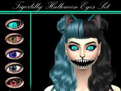5 pairs of dramatic eyes for all your scary needs!  Found in TSR Category 'Sims 4 Eye Colors'