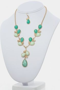 Olive Branches Necklace Set  Refer a Friend for a $300 Shopping Spree!
