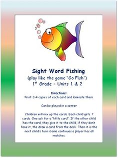 Ece 3601 classroom literacy on pinterest reading survey for Go fish instructions