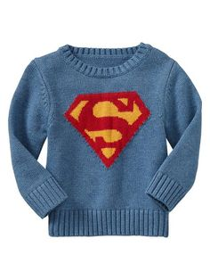 Superhero Sweater - my Ollie looks SO damn cute in this! It's from Junk Food & Gap Toddler Boy Outfits, Toddler Boys, Baby Kids, Kids Outfits, Baby Boy, Bebe Superman, Little Boy Fashion, Kids Fashion, Hansel Y Gretel