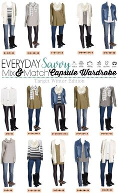 Here is a new Target Winter Capsule wardrobe. I love the cozy sweaters and scarves. The plaid blanket scarf is so cute! You can look great in these casual outfits with jeans or step it up a notch with black ponte faux leather pants. These pieces mix and m