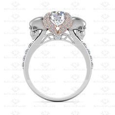 Show details for 'Ailes de L'amour' 1.80ct White Diamond Sterling Silver Engagement Ring