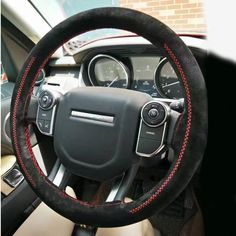 Buy Wholesale DIY Weaving Leather Car Steering Wheel Covers Hand-Stitched Knitted Universal - Black Red from Chinese Wholesaler Interior Accessories, Car Accessories, Car Steering Wheel Cover, Buy Wholesale, Leather Cover, Hand Stitching, Suede Leather, Braid, Weaving