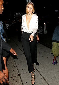 Gigi Hadid Arrives At The Nice Guy Club To Celebrate Kendall Jenner's 20th Birthday in West Hollywood