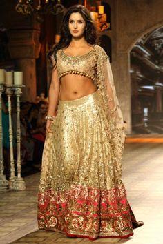 Katrina Kaif in a gorgeous Manish Malhotra outfit.