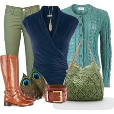 """soft autumn winter ~ those greens (pants, purses) are """"pastel"""" versions of my Energy Color"""
