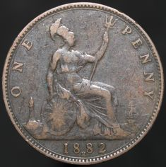 #Coins #Numismatics #KMCoins Old British Coins, English Coins, Weymouth Dorset, Penny Coin, Sailing Ships, Childhood Memories, My Books, Youth, Victorian