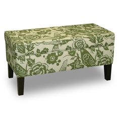 Find it at the Foundary - Canary Storage Bench - Moss