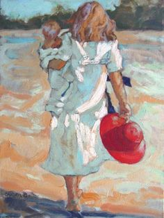 """Red Hat Beach Walk"" by Beth Carver"