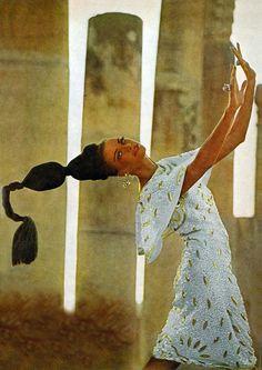 Brigitte Bauer by Henry Clarke Vogue 1965