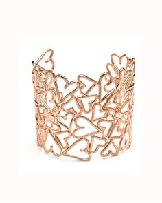 Rose Gold Heart Lace Cuff - This is super cute