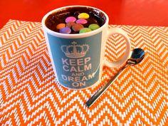 Mug cake chocolat cœur fondant