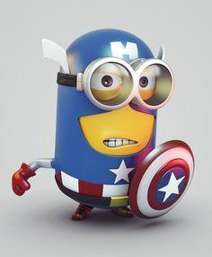 minions mashups captain america 470x570 40 Eye Popping Mashups of Minions
