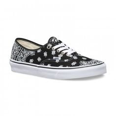Vans Bandana Authentic Shoes (Bandana) Mlack/True White - Vans Netherlands Official Online Store