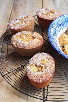 Apple Cinnamon and Ricotta Friands Larder, Cinnamon Apples, Bagel, Ricotta, Doughnuts