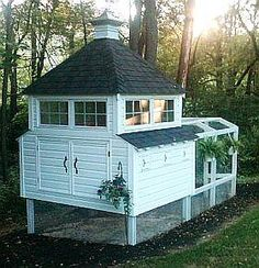 Nicest chicken coop ever! 600 Chicken coop plans and info on raising chickens