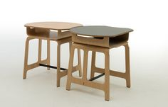 Table ronde / contemporaine / stratifiée / d'école MILANO by Jules Wabbes  BULO