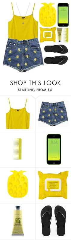 """""""Sem título #1212"""" by andreiasilva07 ❤ liked on Polyvore featuring Monki, Olive, Sunnylife, Sephora Collection, Crabtree & Evelyn, Havaianas and Jada"""