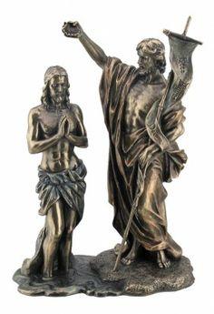 JESUS BAPTIZED BY ST. JOHN THE BAPTIST - BRONZE : Lot 940U